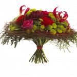 Romantisk buket blomster til Valentine