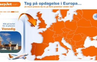 Easyjet konkurrence - gå på opdagelse i Europa