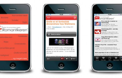 RomantikTips - skærmbilleder fra iPhone applikation