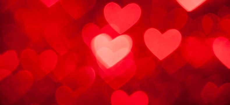 Baggrund med hjerter