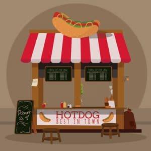 Hotdog spisning er en god gave til rigtige mænd