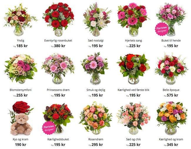 Eksempler på romantiske blomster