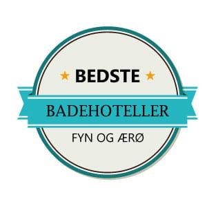 De bedste badehoteller på Fyn og Ærø er...
