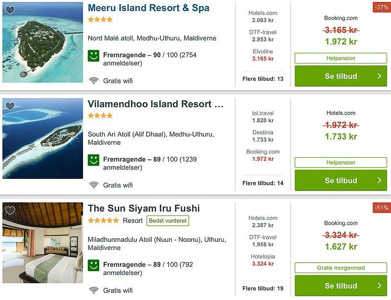 Her er de bedste hoteller på Maldiverne til vores bryllupsrejse