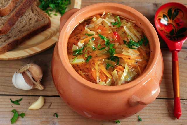 En grøntsagssuppe er særligt populær hos kvinderne