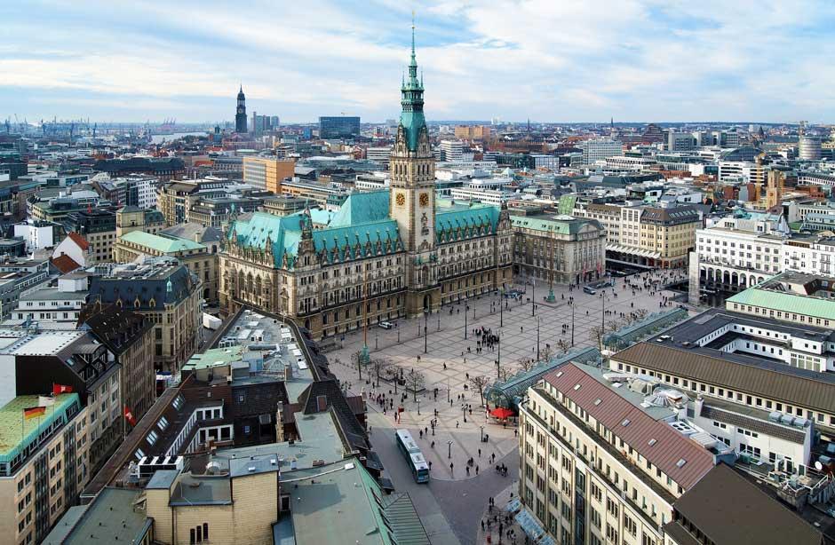 Udsigt over Hamburg