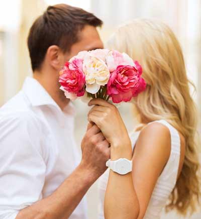 Forelsket, nygift par
