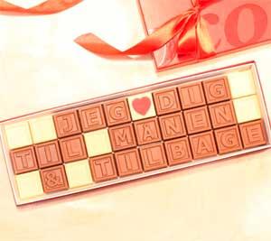 Romantisk chokoladegave - bryllup