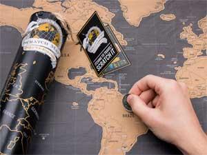 Flot verdenskort der skal skrabes