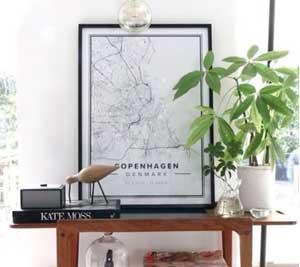 Fantastisk flotte og moderne geografiske bykort