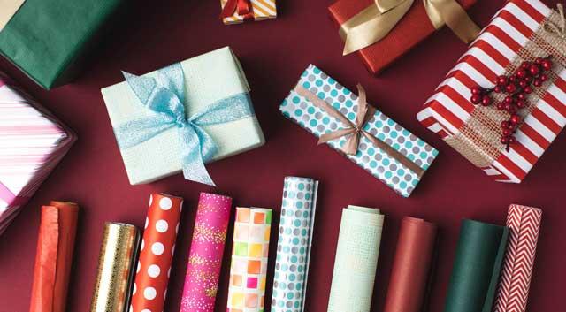 Flot julegavepapir til en pakkekalender
