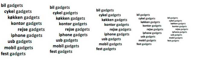 Der findes mange typer af gadgets