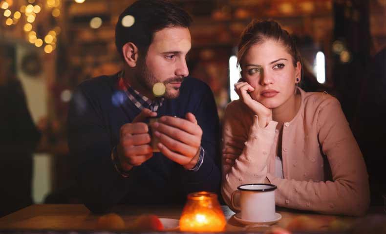 Kvinde der tænker over parforholdet
