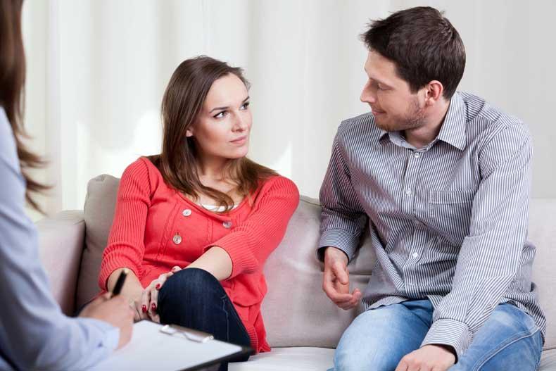 Par besøger en parterapeut