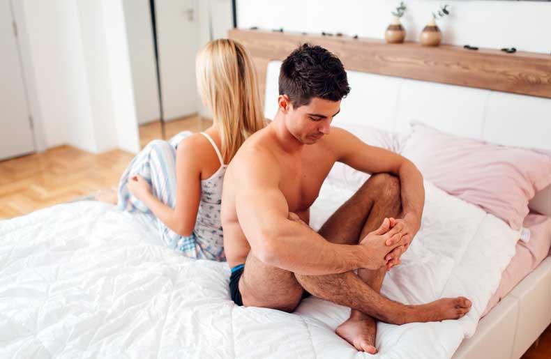 Par der har problemer i sengen