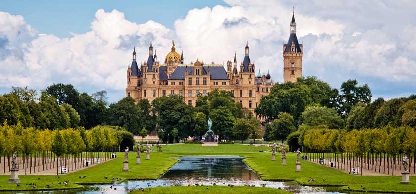Schwerin i Tyskland er særligt kendt for deres slot