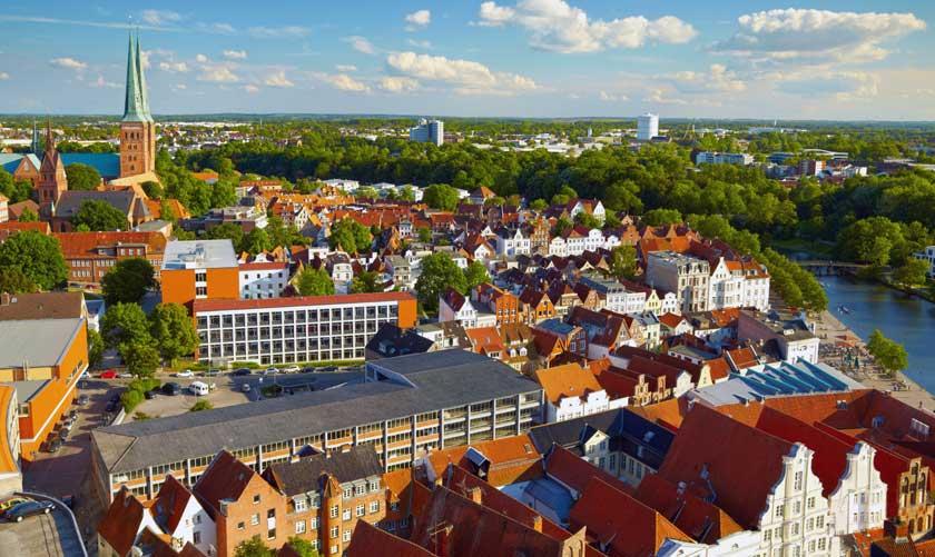 Lübeck i Tyskland