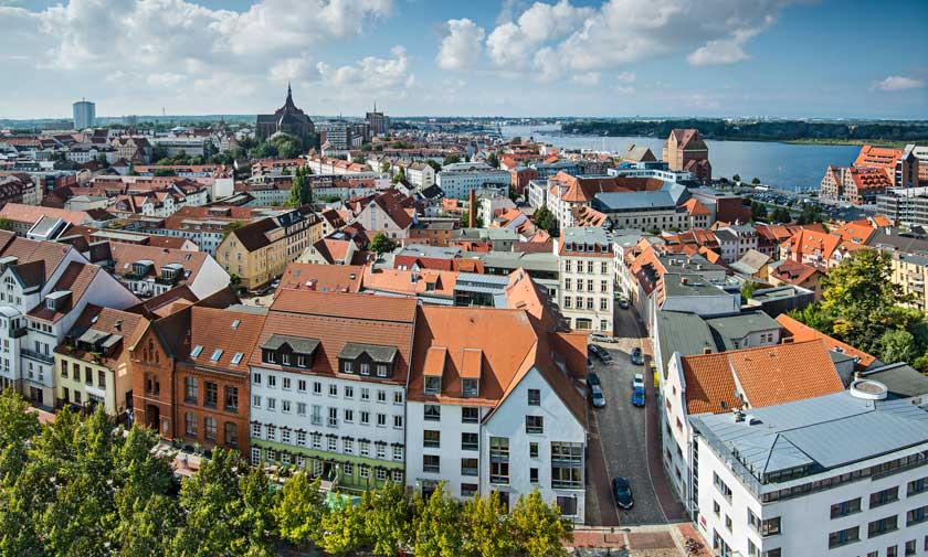 Rostock i Tyskland