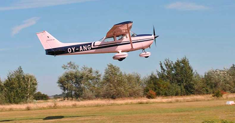 Eksklusiv rundflyvning over Danmark
