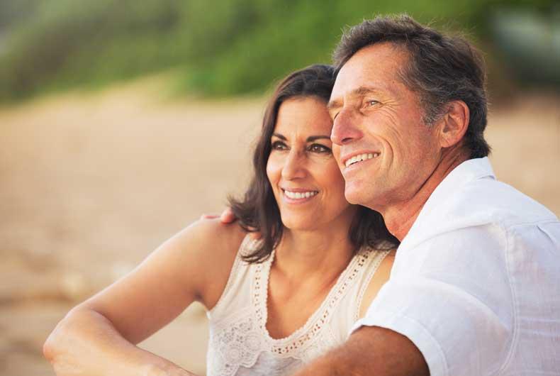 Lykkeligt par med de samme værdier