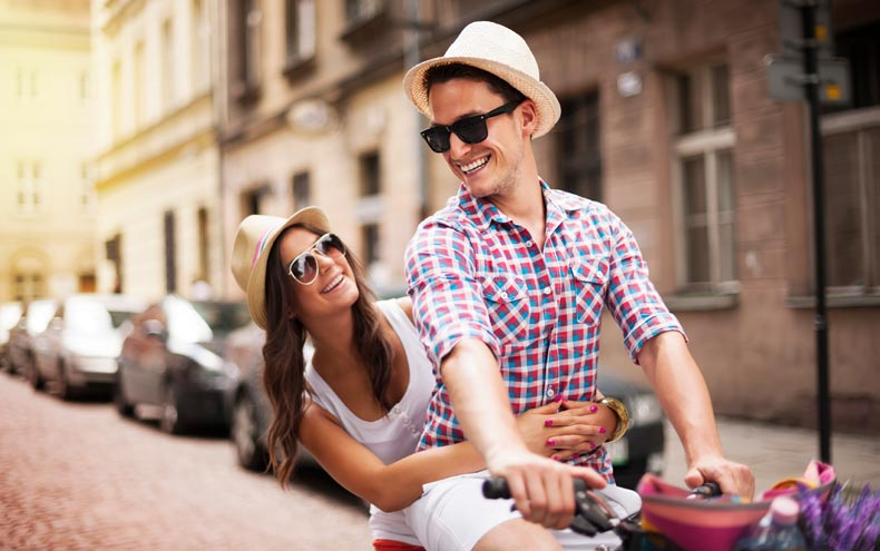 Par cykler en tur sammen