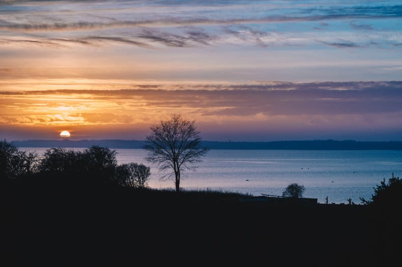 Dansk solnedgang