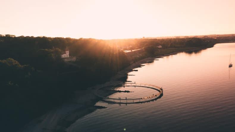 Den uendelige bro i Århus er en god gratis oplevelse