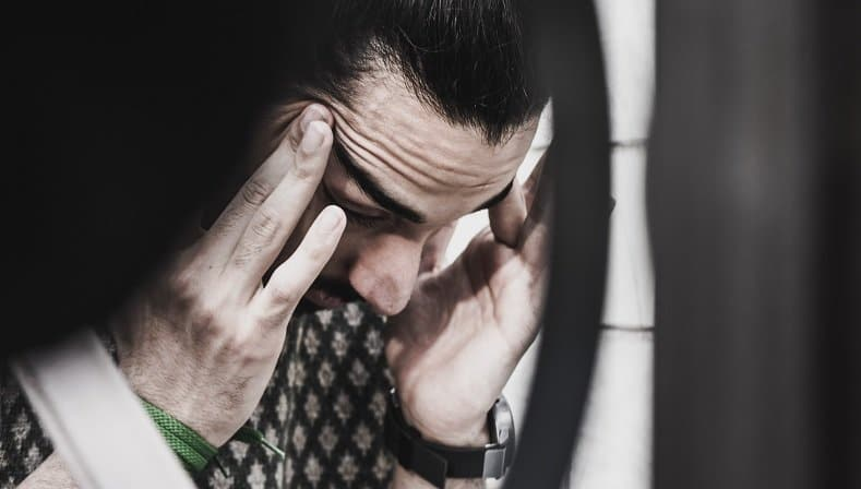 Frustreret mand