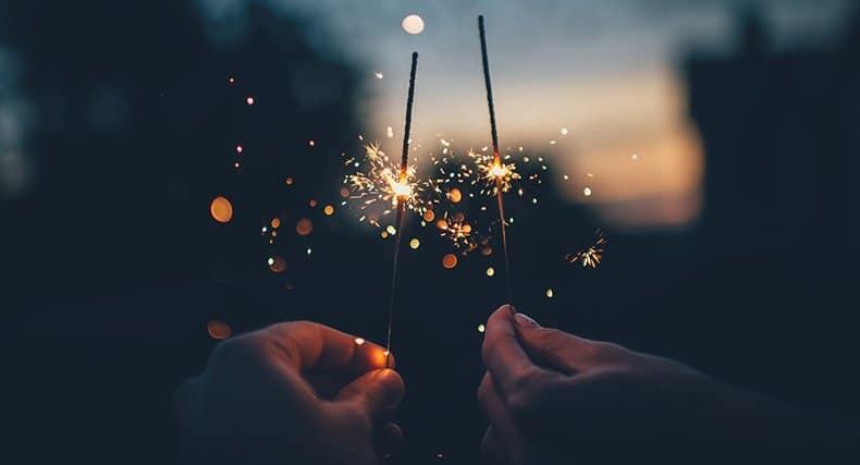 Par fejrer nytårsaften