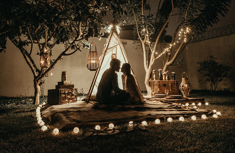 Romantisk bryllupsrejse